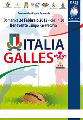 ITALIA-GALLES 6 NAZIONI FEMMINILE