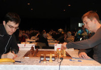 The start of the game Gajewski–Vachier-Lagrave | Photo Hrafn Jökulsson