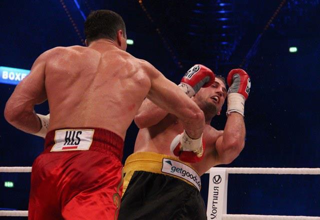 Wladimir vs Francesco. Foto tratta da: www.facebook.com/VitaliWladimirKlitschko