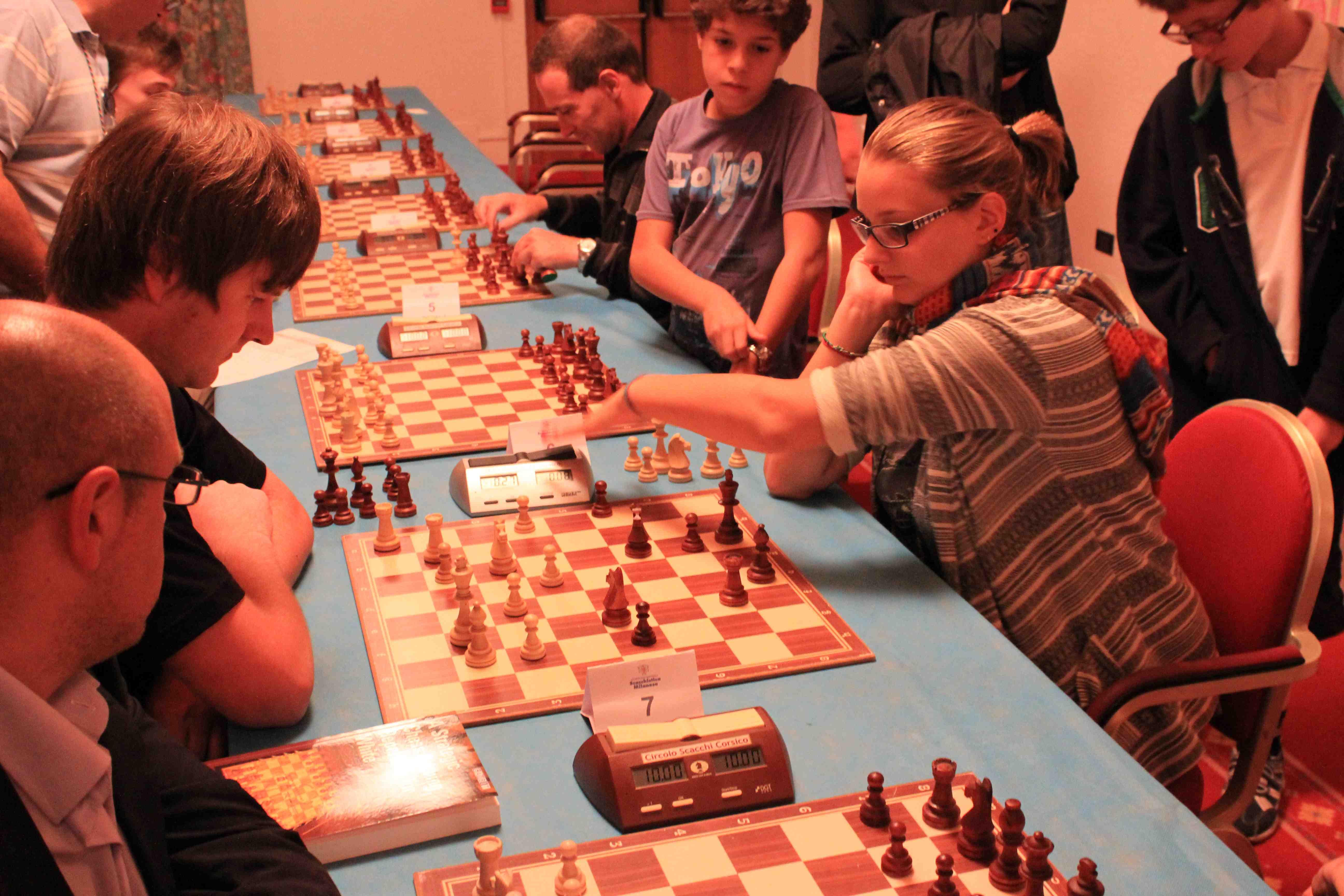 Torneo di Scacchi960; Silvia Caldi in azione. Foto di Volfango Rizzi (SPQeR).