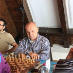 il GM Nenad Sulava, alla sinistra il MI Folco Castaldo.