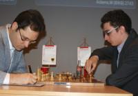 Leko-Caruana. Foto dal sito ufficiale.