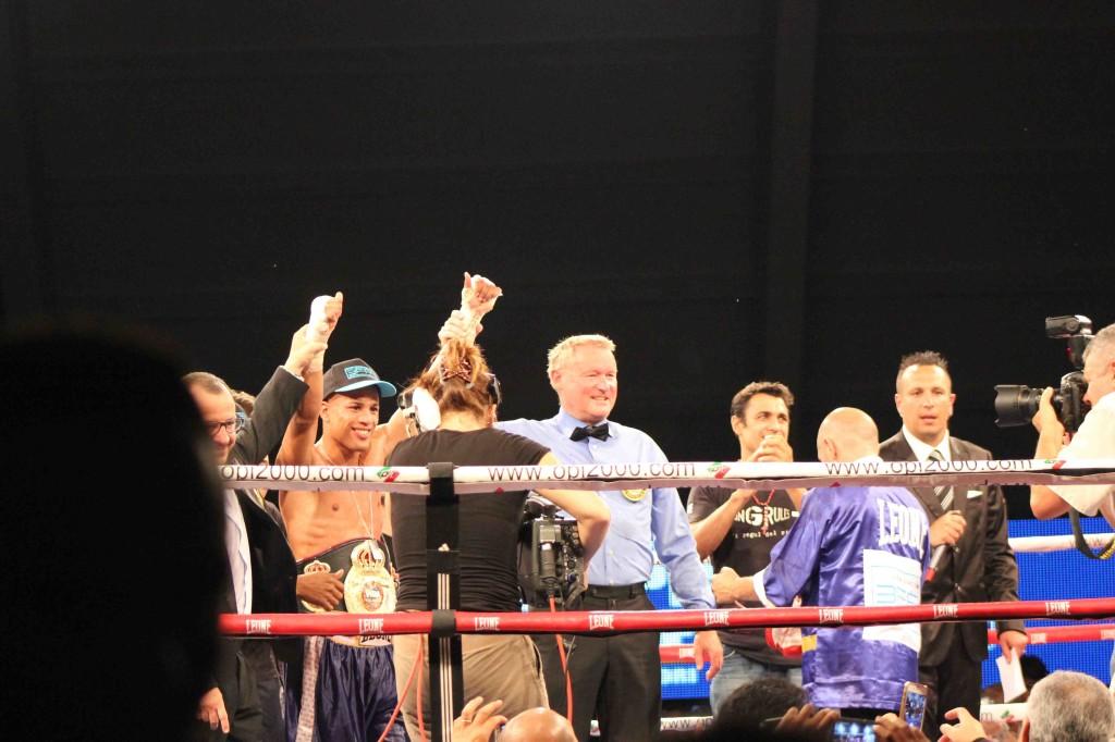 Laca Giacon Campione Continentale WBA. Foto di SPQeR.