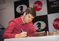 Piotr Svidler nell'VIII turno. Foto di Maria Emelianova.
