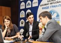 Jobava e Andreikin nella conferenza stampa post-partita.