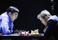 Carlsen-Anand IV del match. Foto di Anastasia Karlovich.