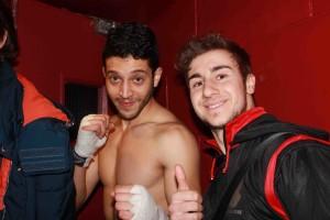 Khalid e Igor Dottore prima di entrare in scena.