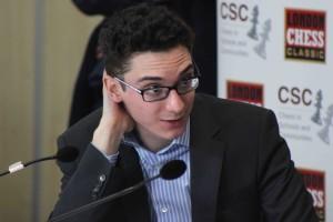Caruana al London Chess Classic (dicembre 2014). Foto di SPQeR.