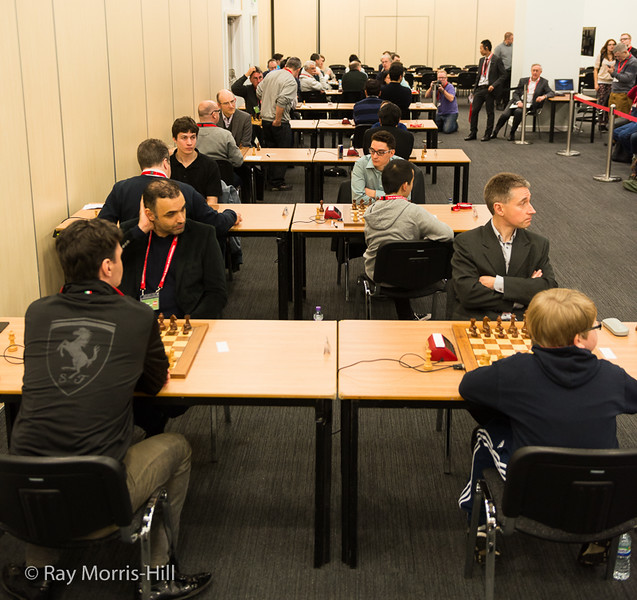 Sala del London Chess Classic.