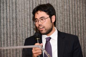 Hikaru Nakamura alla cena di gala di fine torneo.