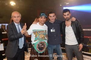 Giacon con Salvatore, Cristian e Alessandro Cherchi.