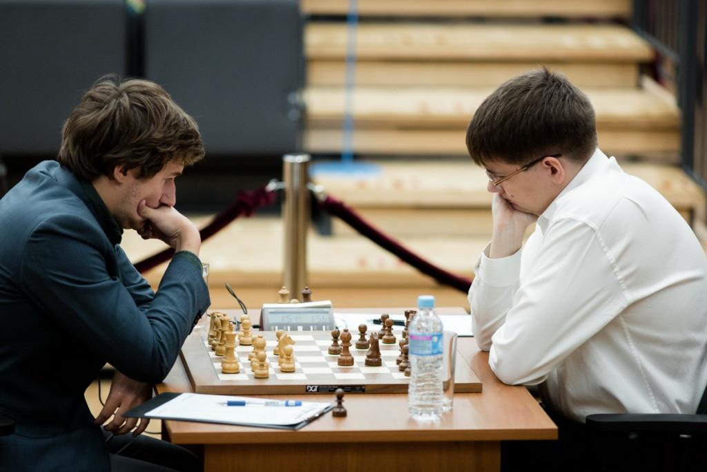 Karjakin-Tomashevsky. Foto di Kirill Merkurev.
