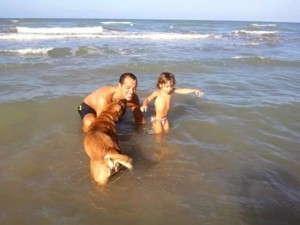 Anche il cane fa parte della famiglia.