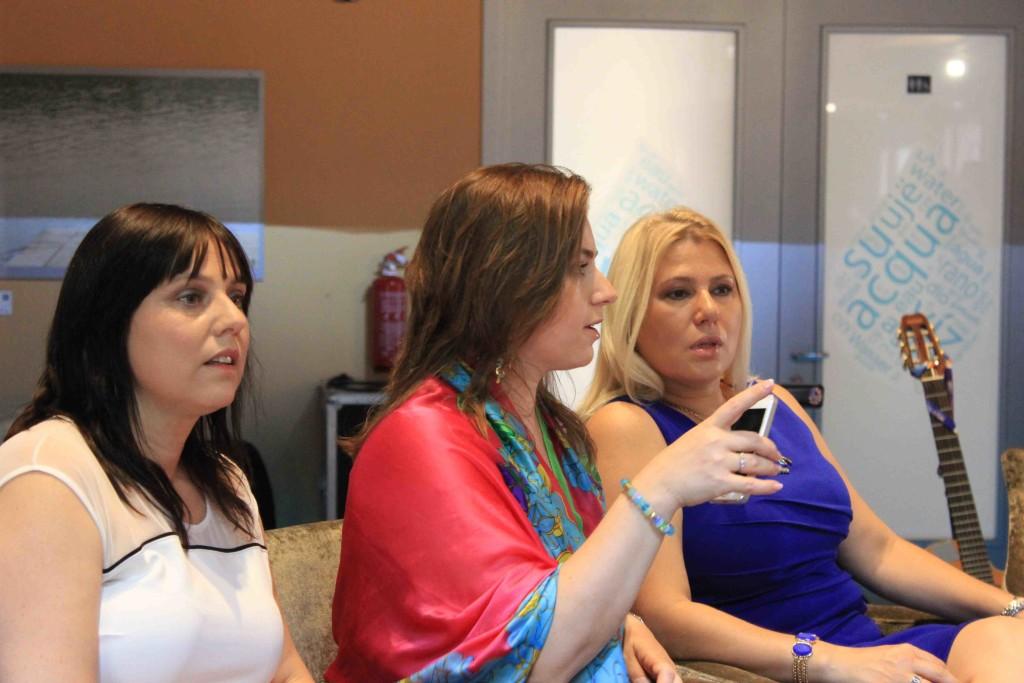 Da sinistra: Sofia, Judit e Susan Polgar. Fotografie di SPQeR.