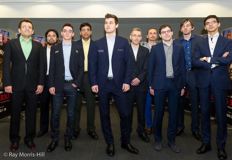 Partecipanti al torneo principale del London Chess Classic 2015.