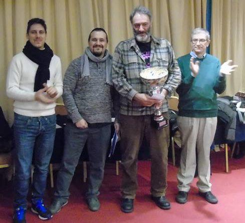 Doriano Tocchioni tra gli organizzatori alla premiazione.
