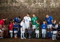 REPRO FREE***PRESS RELEASE NO REPRODUCTION FEE***  2018 NatWest 6 Nations Rugby Championship Launch, The Hilton Syon Park, London 24/1/2018 (L-R) Captains Alun Wyn Jones and Kevin Priolo (Wales), Guilhem Guirado with Xavier Chovet (France), Rory Best with Frankie Lennon (Ireland), Dylan Hartley with Grace Anstey (England), Sergio Parisse with Flynn McKeever (Italy) and John Barclay with Elsie Pitkin (Scotland) pictured at the launch of the 2018 NatWest 6 Nations Championship at Syon House and Gardens in London today Mandatory Credit ©INPHO/Billy Stickland