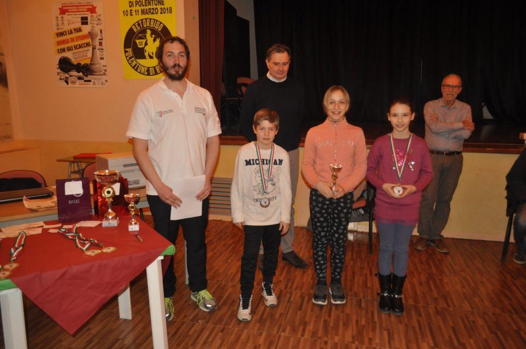 I vincitori dei premi Under 14.