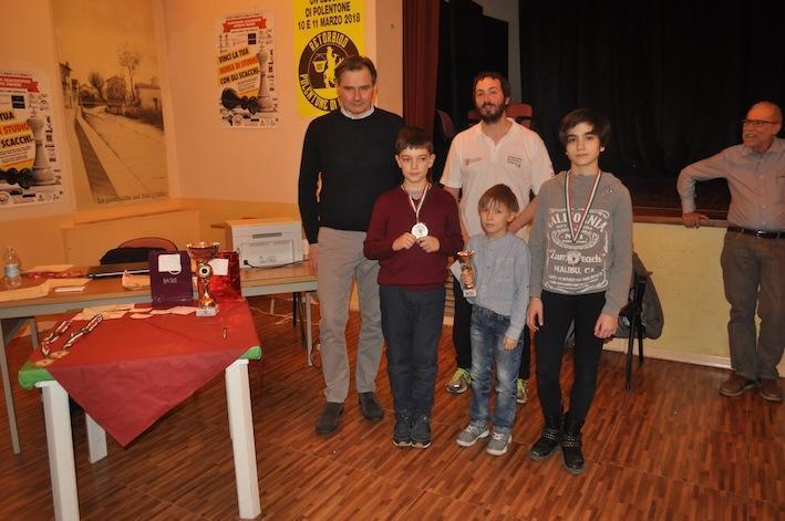 I vincitori dei premi Under 11.