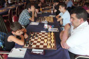 Brando Pavesi nel penultimo turno in cui vinceva il torneo.